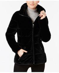 INC International Concepts - Quilted Velvet Coat - Lyst