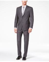 Marc New York - Classic-fit Stretch Medium Grey Solid Suit - Lyst