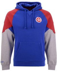854b2c9cdc300 Mitchell   Ness - Philadelphia 76ers Cut And Sew Hoodie In Navy - Lyst