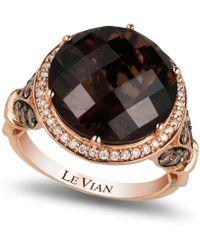 Le Vian - Chocolate Quartz® (8 Ct. T.w.) And Diamond (3/4 Ct. T.w.) Ring In 14k Rose Gold - Lyst