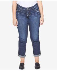 Silver Jeans Co. - Plus Size Sam Boyfriend-fit Jeans - Lyst