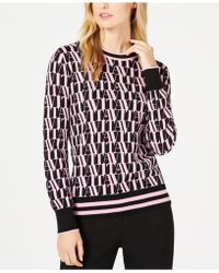 Marella - Jazz Printed Long-sleeve Sweater - Lyst