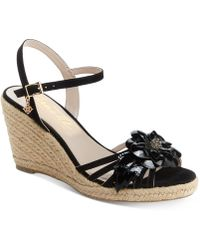 Nanette Lepore - Nanette By Quince Floral Wedge Sandals, Created For Macy's - Lyst