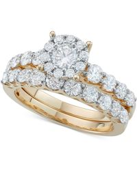 Macy's - Diamond Bridal Ring Set In 14k White Gold Or Gold (2 Ct. T.w.) - Lyst