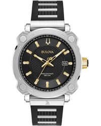 c97d8c68fdf Bulova - Grammy Stainless Steel   Black Rubber Strap Watch 41mm - Lyst