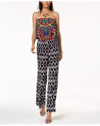 INC International Concepts - Trina Turk X I.n.c. Strapless Print Jumpsuit, Created For Macy's - Lyst