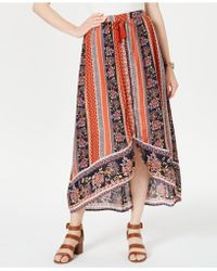 Style & Co. - Printed High-low Skirt, Created For Macy's - Lyst