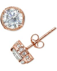 Giani Bernini | Cubic Zirconia Stud Earring In Sterling Silver | Lyst