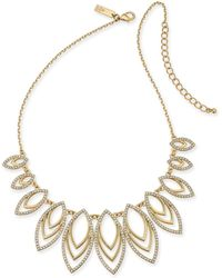 "INC International Concepts - I.n.c. Gold-tone Pavé Navette Statement Necklace, 18"" + 3"" Extender, Created For Macy's - Lyst"