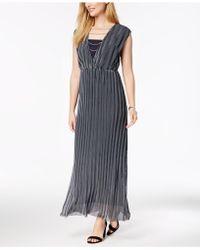 Love Scarlett - Petite Striped Chain-detail Maxi Dress, Created For Macy's - Lyst