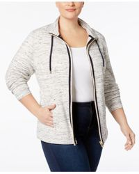 Charter Club | Plus Size Space-dyed Knit Jacket | Lyst