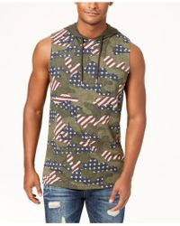 American Rag - Camo Hooded Tank, Created For Macy's - Lyst