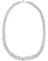 Giani Bernini - Byzantine Link Collar Necklace In Sterling Silver - Lyst