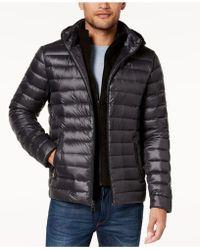 Calvin Klein - Big & Tall Packable Down Puffer Jacket With Fleece Bib - Lyst