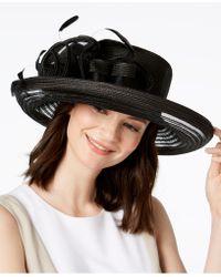 August Accessories - Citrine Romantic Dressy Hat - Lyst