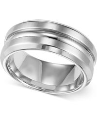 Triton - Men's Stainless Steel Ring, 8mm Wedding Band - Lyst