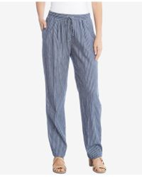 Karen Kane - Cotton Drawstring Trousers - Lyst