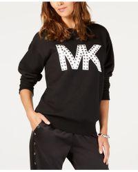 Michael Kors - Michael Plus Size Studded Logo Sweatshirt - Lyst