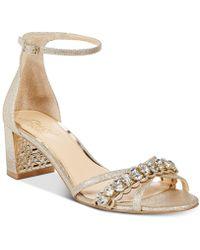 Badgley Mischka - Giona Block-heel Evening Sandals - Lyst