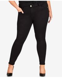 City Chic - Trendy Plus Size Skinny Ankle Jeans - Lyst