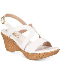 Callisto - Pomfret Platform Wedge Sandals, Created For Macy's - Lyst
