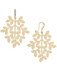 INC International Concepts - I.n.c. Gold-tone Leaf Drop Earrings, Created For Macy's - Lyst