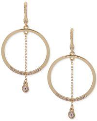 Ivanka Trump - Gold-tone Crystal Orbital Drop Earrings - Lyst