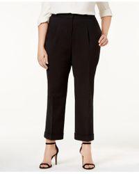 Love Scarlett - Plus Size Pleated Cuffed Pants - Lyst
