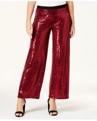 Kensie - Sequined Wide-leg Trousers - Lyst