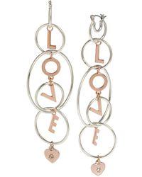 BCBGeneration - 'love' Multi Ring Chandelier Earrings - Lyst