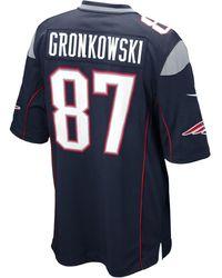 08012906ecc Lyst - Nike Men S New England Patriots Platinum Ko Chain Full-Zip ...