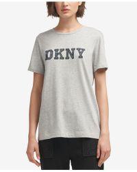 DKNY - Cotton Logo T-shirt, Created For Macy's - Lyst