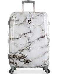 "Heys | Bianco Stone-print 30"" Hardside Spinner Suitcase | Lyst"