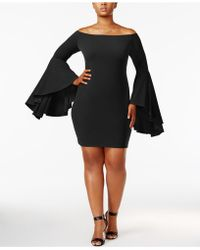 Soprano - Trendy Plus Size Bell-sleeve Dress - Lyst