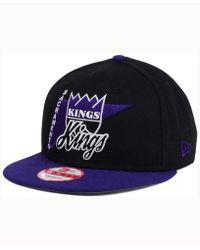 cheaper bde8d 39472 KTZ - Sacramento Kings Hwc Logo Stacker 9fifty Snapback Cap - Lyst