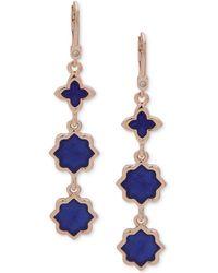 Ivanka Trump - Rose Gold-tone Stone Linear Drop Earrings - Lyst