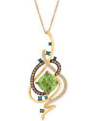 """Le Vian - Exotics® Crazy Collection® Mint Julep Quartztm (3-1/4 Ct. T.w.) & Diamond (3/4 Ct. T.w.) 18"""" Pendant Necklace In 14k Gold - Lyst"""