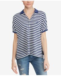 Polo Ralph Lauren - Striped Poncho-polo Shirt - Lyst