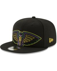 cheaper 072d5 bc840 KTZ New Orleans Pelicans On-court Collection 9fifty Snapback Cap in Blue for  Men - Lyst