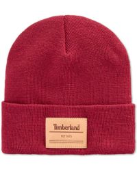 732a6e8cf324a Lyst - Timberland Ribbed Watch Beanie in Brown for Men