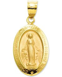 Macy's - 14k Gold Charm, Miraculous Medal Charm - Lyst