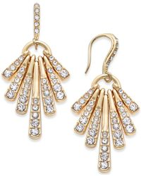 INC International Concepts - Gold-tone Pavé Shaky Drop Earrings - Lyst