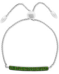 Effy Collection - Effy® Tsavorite Cluster Bolo Bracelet (1-1/2 Ct. T.w.) In Sterling Silver - Lyst