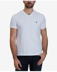 Nautica - Slim-fit Stretch V-neck T-shirt - Lyst