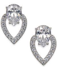 Danori - Silver-tone Teardrop Doorknocker Drop Earrings, Created For Macy's - Lyst
