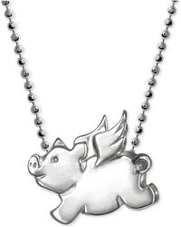 Alex Woo - Little Pig Zodiac Pendant Necklace In Sterling Silver - Lyst