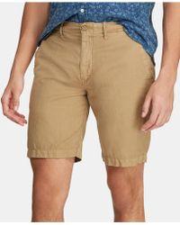 f8ae7e054c04 Lyst - Polo Ralph Lauren Straight-fit Linen-blend Short in Blue for Men