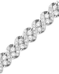 Macy's - Diamond Twist Bracelet In 14k White Gold (5 Ct. T.w.) - Lyst