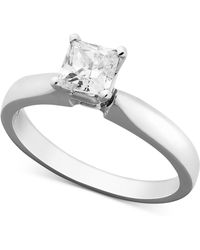 Macy's - Princess-cut Diamond Solitaire Engagement Ring In 14k White Gold (5/8 Ct. T.w.) - Lyst