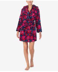 Betsey Johnson - Printed Plush Short Robe - Lyst